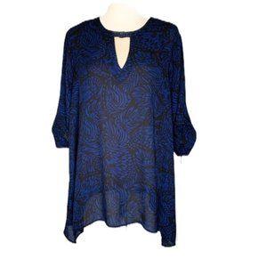 Torrid Navy/Black Swirl Pattern Blouse Size 3X